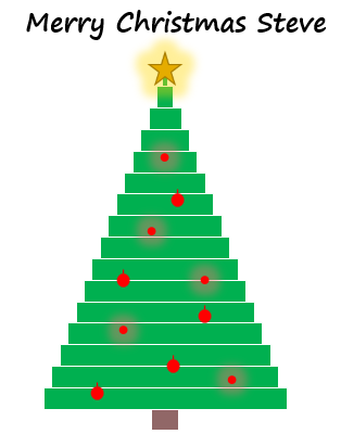 Excel Christmas Tree Chart