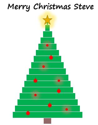 Excel Christmas Tree Chart