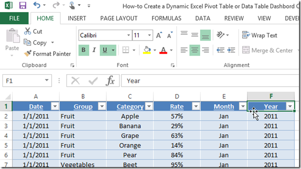 excel table templates