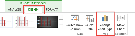 Chart Tools Change Chart Type