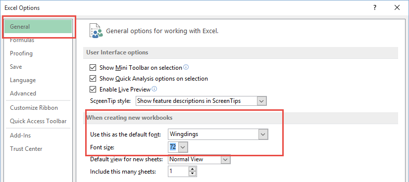 Excel General Option Pranks