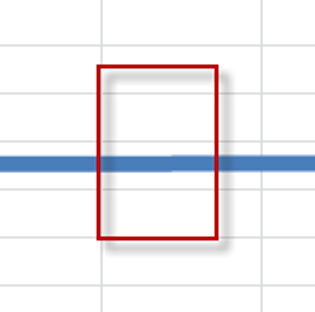 How to draw a straight line in Excel