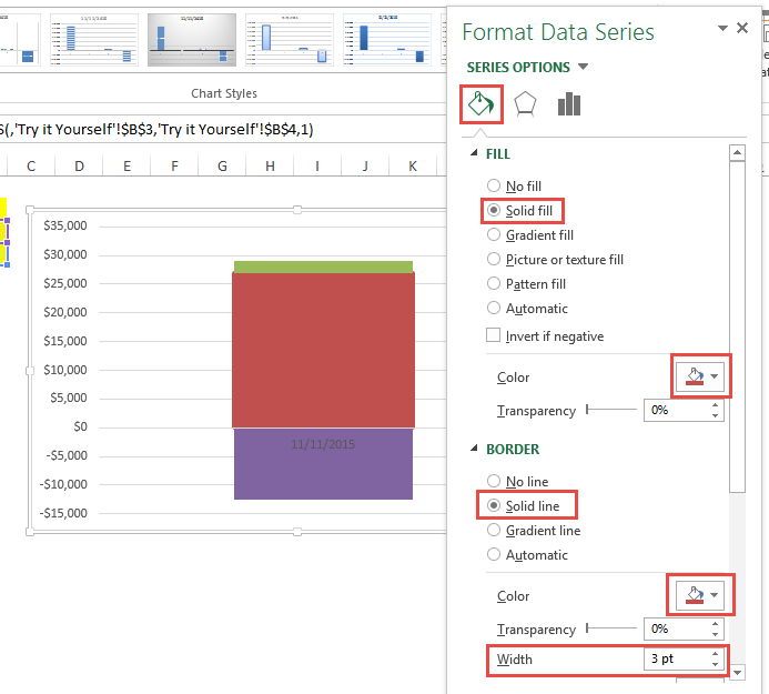 Format Current Sales Data Point