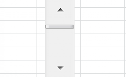 Excel Scroll Bar Control