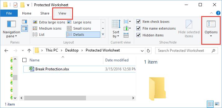 File Explorer View Folder Options
