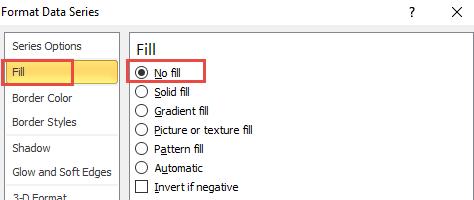 Format Data Series No Fill
